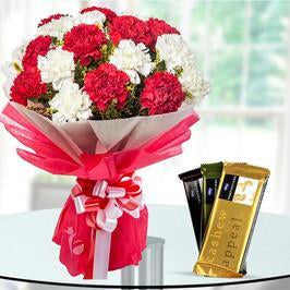 Carnations with Temptation - for Online Flower Delivery In India