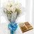Classic White Rose and Dry Fruit Combo- Best Flower Delivery in Subcategory Flowers Roses White Rose -The perfect combo to keep in touch with your loved one, White Rose and Premium Dry Fruits combo which satisfy every craving will be an ideal choiceThe Combo Consist of 12 White Roses wrapped in cellophane paper with an elegant hand-tied bow 1/2 Kg Dry Fruit