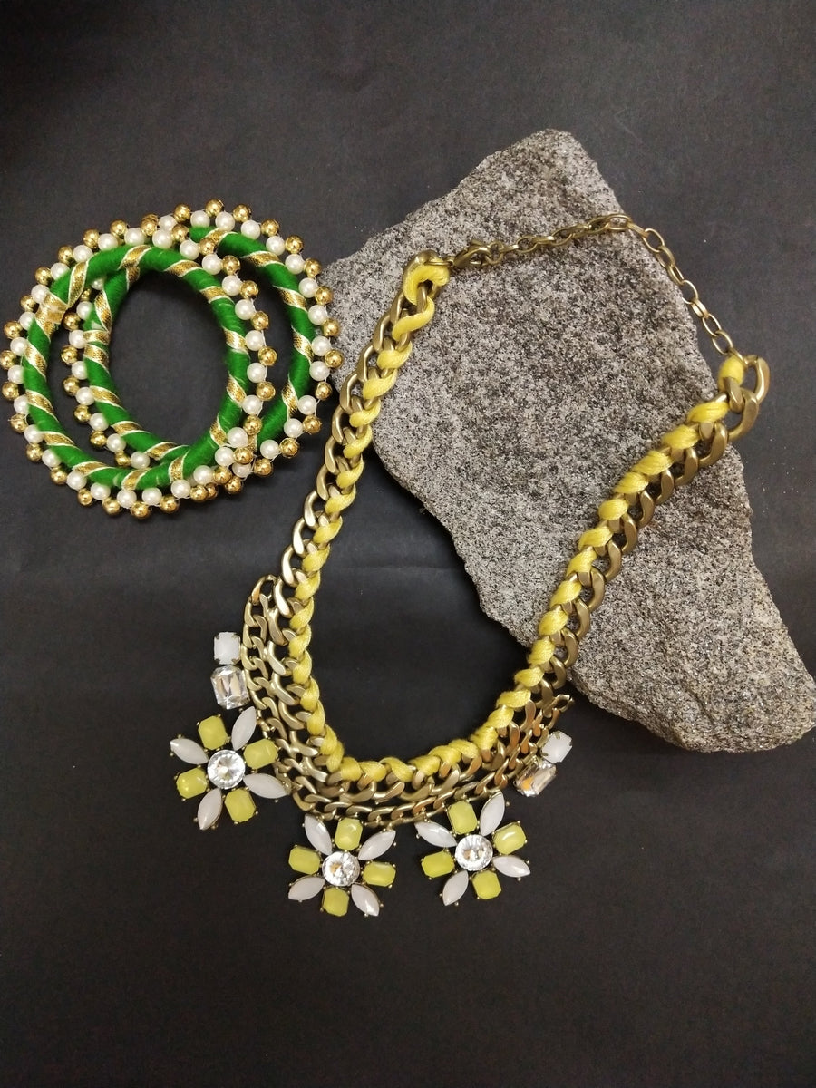 Designer Peacock Necklace Set - from Best Flower Delivery in India