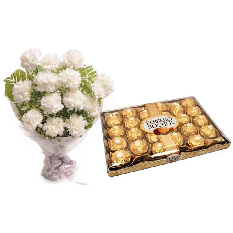 Blooming Choco - from Best Flower Delivery in Carnations Collection