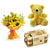Yummy Surprise- Send Flowers to Main | Combos - This exciting combo of Flowers, Chocolates and Teddy contains: 6 fresh Yellow Lilies bunch One 6 inch Teddy One Ferrero Rocher 16 pcs   While we always strive to ensure that products are accurately represented in our photographs, from season to season and subject to availability, our florists may be required to substitute one or more flowers for a variety of equal or greater quality, appearance and value.