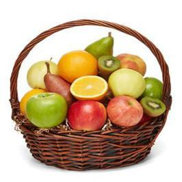 Basket Of Fresh Fruits 5 KG - for Midnight Flower Delivery in Occasion Gifts Father's Day