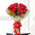 Forever Romance- Red Rose Bouquet- -Product Details 12 Red Roses Cellophane Packing  Red Ribbon Green Fillers Red roses are always used to express your feelings and love in a fantastic way. With the help of these amazing 12 Red Roses with fillers you can express your wonderful feelings and bring a sweet smile on your beloved one face. So order now and get them delivered at your beloved doorstep without any hassle. While we always strive to ensure that products are accurately represented in our photographs, from season to season and subject to availability, our florists may be required to substitute one or more flowers for a variety of equal or greater quality, appearance and value.