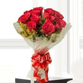 Forever Romance- Red Rose Bouquet - for Flower Delivery in India