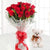 Forever yours- Midnight Gift Delivery in Occasion Gifts New Year -Fill your lady angel's heart with some more love, with these beautiful red roses clubbed with cute teddy. The Combo Consist of 12 Red Roses wrapped in cellophane paper with an elegant hand-tied bow 6 Inch Cute Teddy