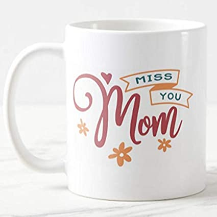 Miss You MOM Mug - for Online Flower Delivery In India