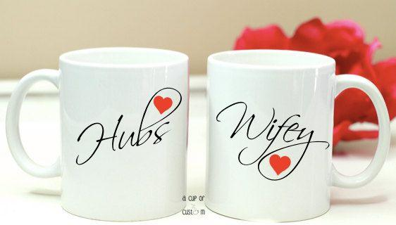 Mugs for Lovely Couple - for Midnight Flower Delivery in India