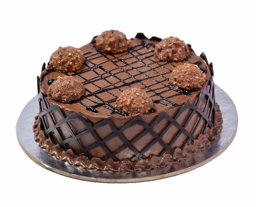 Nutty Bunch Ferrero Rocher Cake - for Online Flower Delivery In India