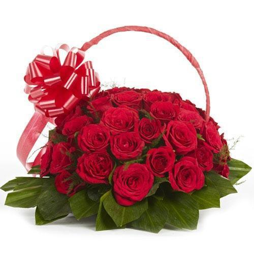 Occasion Make Memories- Wedding Red Rose Bouquet - for Flower Delivery in India