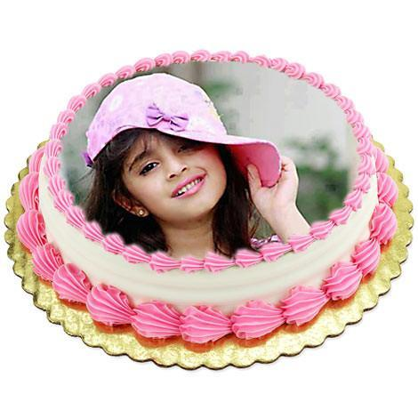 Butterscotch Photo Cake One Kg - Send Flowers to India