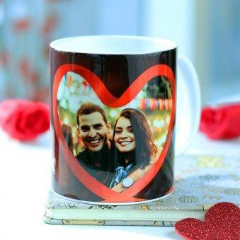 Photo in Heart Mug - for Flower Delivery in India