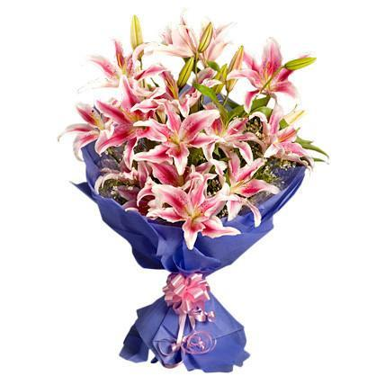 Pink Love For You - for Midnight Flower Delivery in India