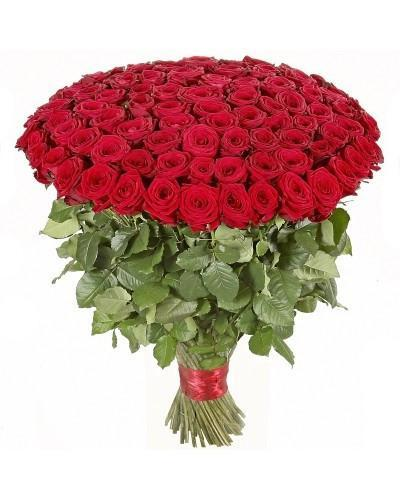 Premium Mega Love- 100 Red Roses Bouquet - Send Flowers to India