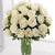 Purest Grace-small white rose bouquet- -Product Details: 12 White Roses Bunch Vase Seasonal Fillers Sending a bouquet of beautiful roses says it all. Send this beautiful bunch of 12 white roses which signifies grace and is a perfect choice to send on anniversaries, show sympathy or just to say hello to old buddy or colleague. While we always strive to ensure that products are accurately represented in our photographs, from season to season and subject to availability, our florists may be required to substitute one or more flowers for a variety of equal or greater quality, appearance and value.
