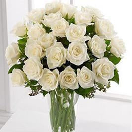 Purest Grace-small white rose bouquet - for Midnight Flower Delivery in India