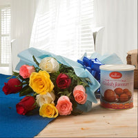 Flower and Sweets Combo - for Midnight Flower Delivery on Category | Combos |and Cakes and Cakes