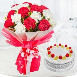 Red and White Combo - from Best Flower Delivery in Anniversary Flowers