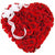 Beautiful Red Heart- Heart Shaped 100 Red Roses Bouquet- - Product Details: 100 Red Roses Heart Shape Arrangement White Ribbon Bow Red roses help to express your love even without words. This lovely arrangement of red roses can be gifted to your beloved. Especially the heart shape roses help to represent all the feelings, love and care towards your loved one. These can be gifted on any occasion be it a birthday, anniversary or any other special day. While we always strive to ensure that products are accurately represented in our photographs, from season to season and subject to availability, our florists may be required to substitute one or more flowers for a variety of equal or greater quality, appearance and value.