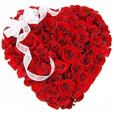 Beautiful Red Heart- Heart Shaped 50 Red Roses Bouquet - from Best Flower Delivery in India