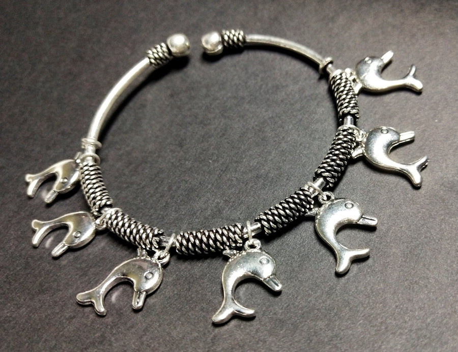 Silver Boho Women Bracelet - for Online Flower Delivery In India