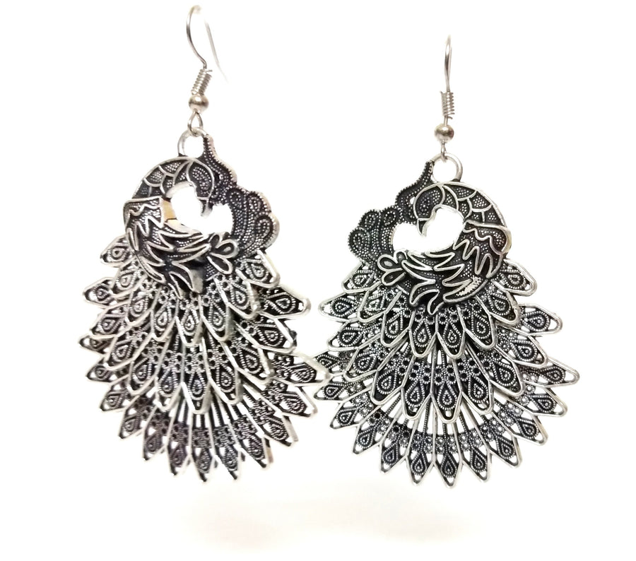 Silver Color Earrings - for Online Flower Delivery In India