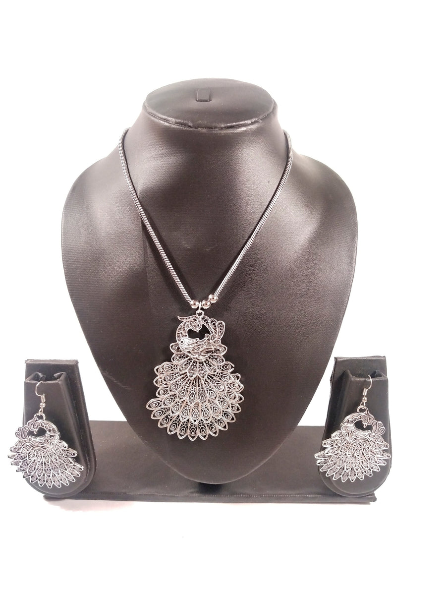 Silver Necklace Set - from Best Flower Delivery in India