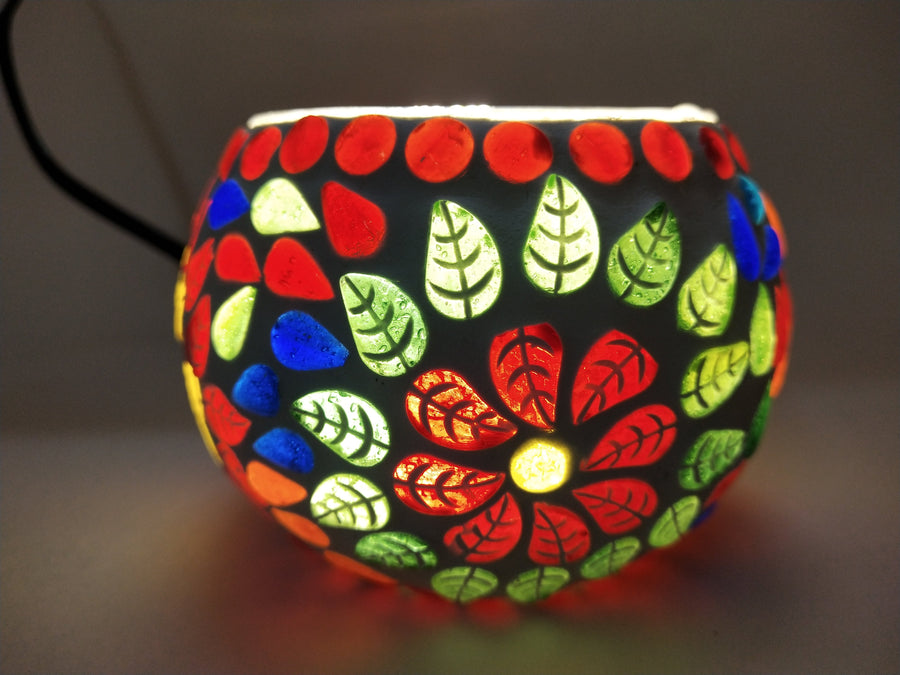 Small Mosaic Glass Lamp - for Flower Delivery in India