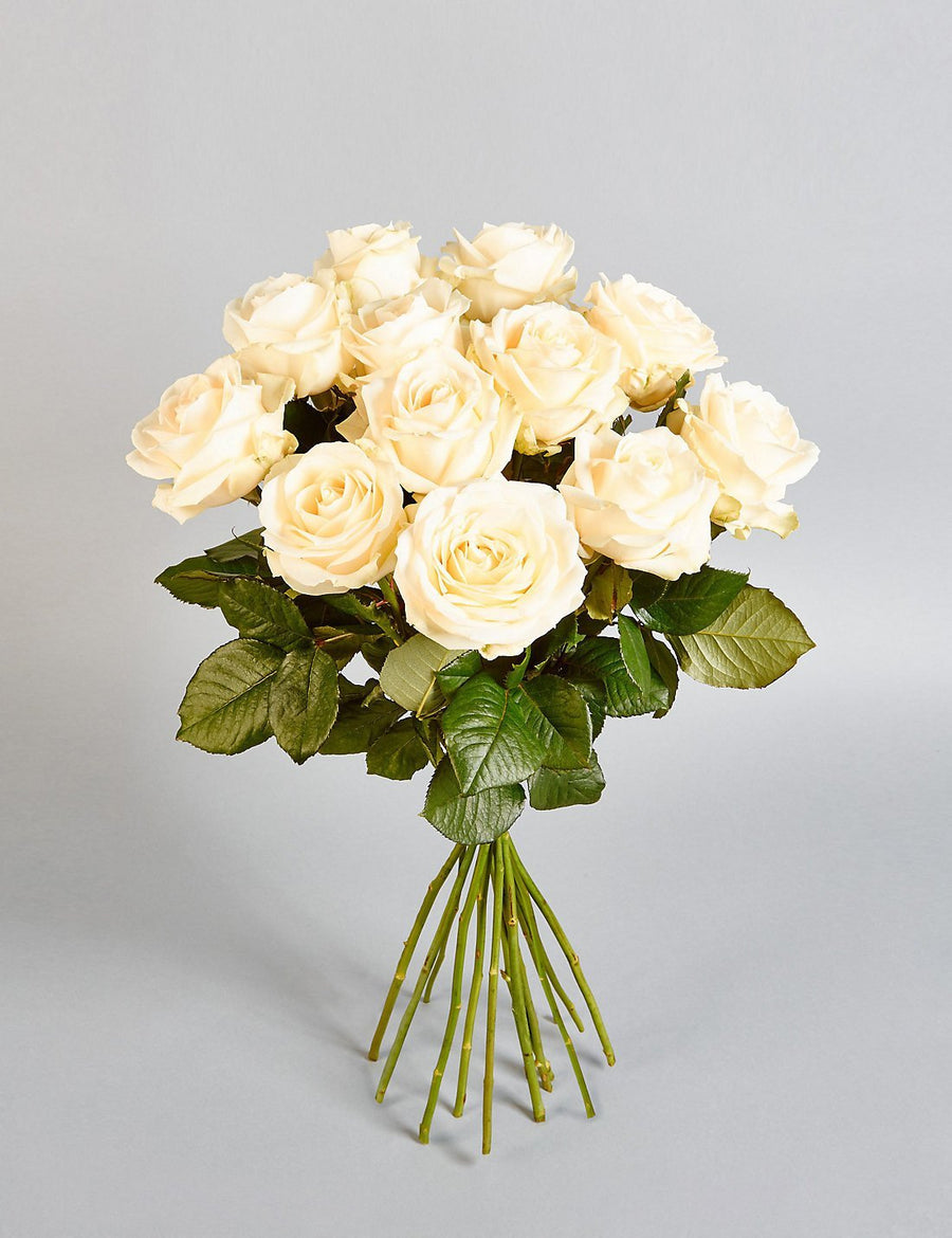 Smile Please-white rose flower bouquet - for Flower Delivery in India
