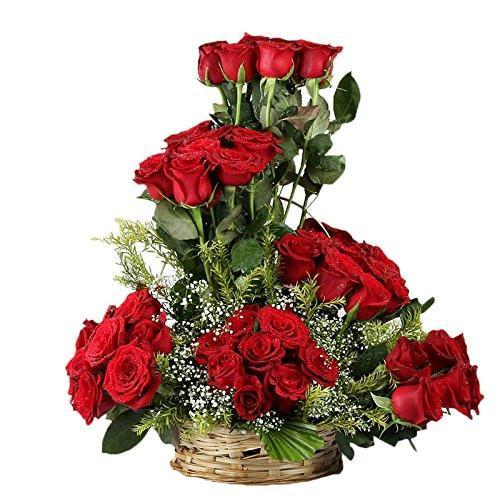 Be Happy-40 Roses with Basket - from Best Flower Delivery in India