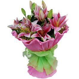 Stunning Pink Lilies - Send Flowers to India