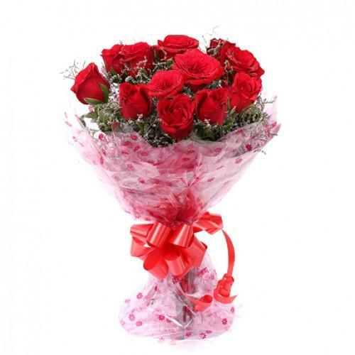 Sweet Memories- Red Rose Wedding Bouquet - Send Flowers to India