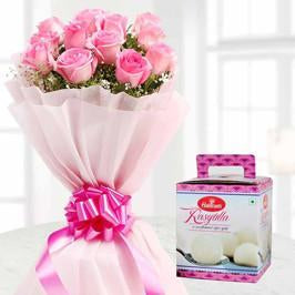 Sweets with Pink - for Online Flower Delivery In India