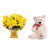 Royal Richness- - This exciting combo of Flowers and Teddy contains: 10 fresh Yellow Lilies bunch One 12 inch Teddy While we always strive to ensure that products are accurately represented in our photographs, from season to season and subject to availability, our florists may be required to substitute one or more flowers for a variety of equal or greater quality, appearance and value.