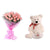 Pink Rose Surprise- - This exciting combo of Flowers and Teddy contains: 10 fresh pink Rose bunch One 6 inch Teddy While we always strive to ensure that products are accurately represented in our photographs, from season to season and subject to availability, our florists may be required to substitute one or more flowers for a variety of equal or greater quality, appearance and value.