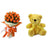 Simply Royal- - This exciting flowers and teddy combo contains: 20 fresh Orange Rose bunch One 12 inch Teddy While we always strive to ensure that products are accurately represented in our photographs, from season to season and subject to availability, our florists may be required to substitute one or more flowers for a variety of equal or greater quality, appearance and value.