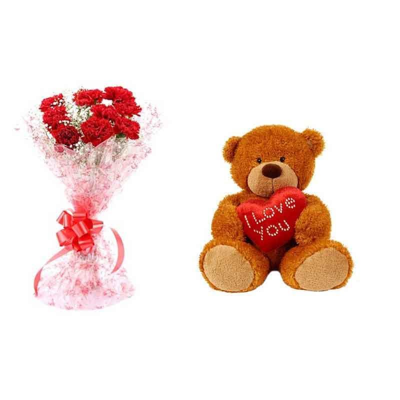 Pretty Choice - for Flower Delivery in Category | Flowers | Flowers and Teddy Combo