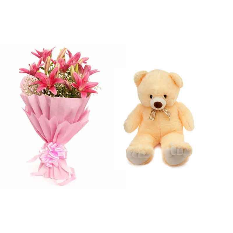 Elegant Beauty - from Best Flower Delivery in Flowers and Teddy combo
