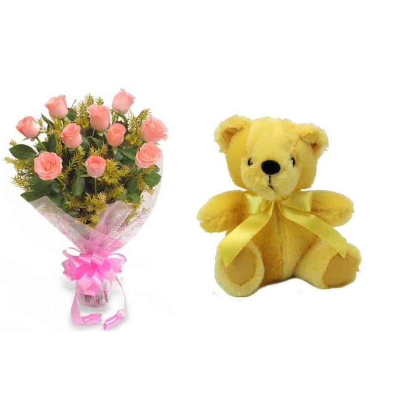 Sweet Gesture - for Flower Delivery in Category | Flowers | Flowers and Teddy Combo