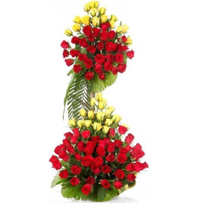 Long Flowers Arrangement - from Best Flower Delivery in India