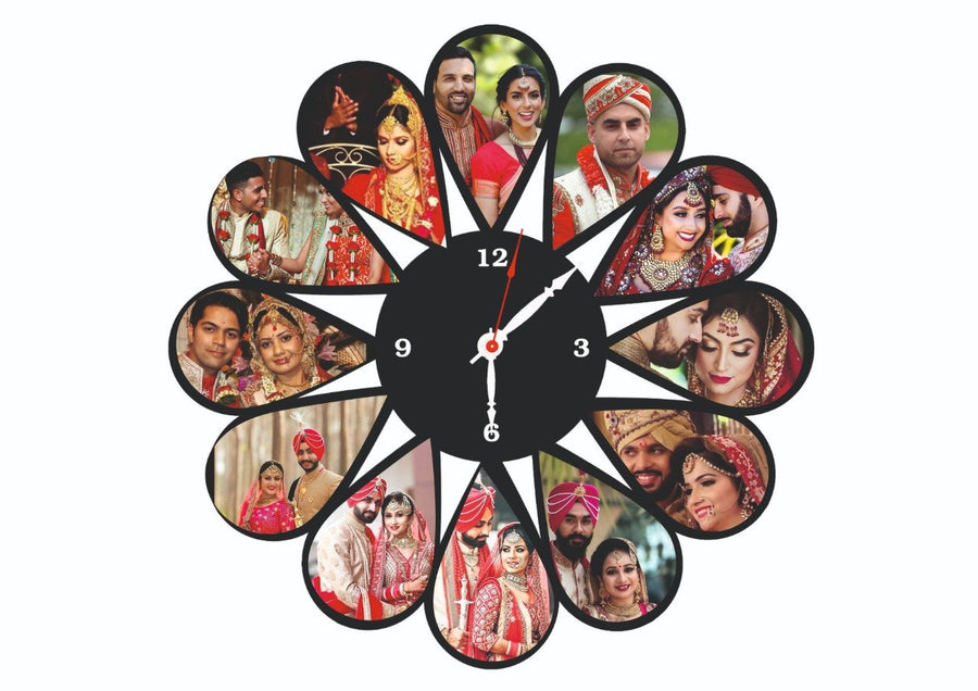 Personalised Wall Clock - for Flower Delivery in Category | Gifts | Clocks