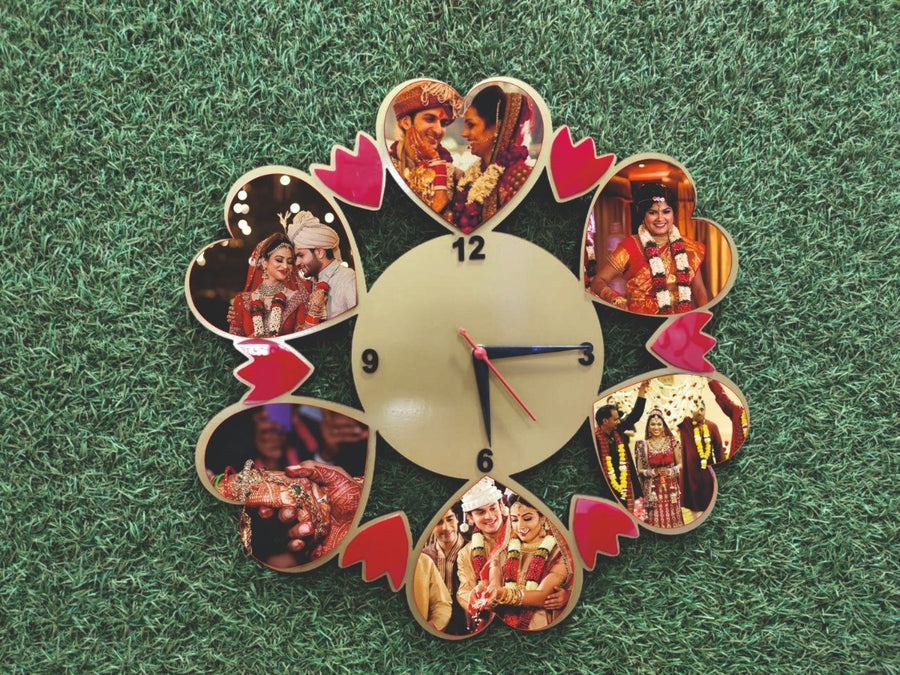 Personalized Gift Wall Clock for Anniversary - from Best Flower Delivery in India
