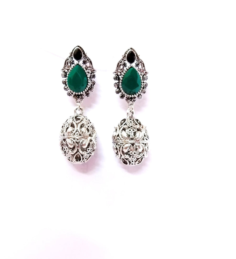 Women Crystal Earrings - for Midnight Flower Delivery in India