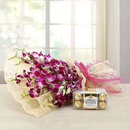 Wow Purple Choco Mist - for Online Flower Delivery In Main | Gifts