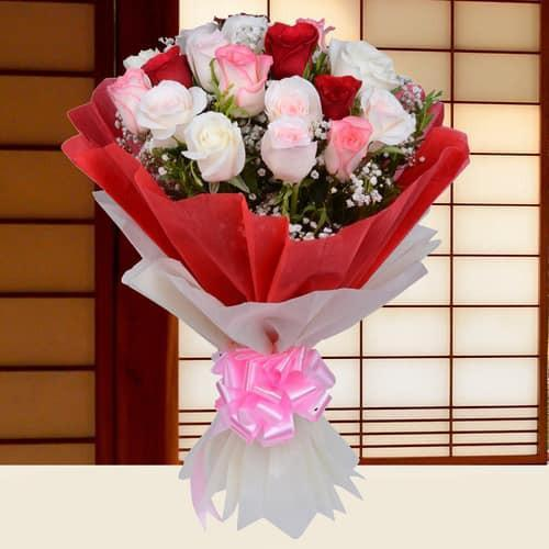 Adoring Darling- Mix Roses Bouquet - from Best Flower Delivery in Pune
