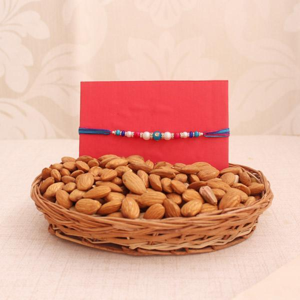 Almond Basket With Rakhi - from Best Flower Delivery in Rakhi