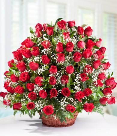 An Evening To Remember-100 red roses bouquet - from Best Flower Delivery in India