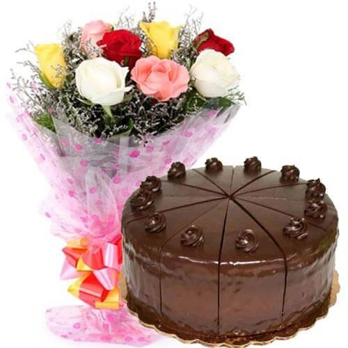 Cakes And Flowers - for Midnight Flower Delivery in India