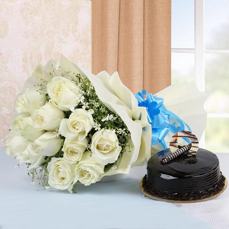Black n White Love - for Flower Delivery in Category | Flowers | Mother's Day Flowers