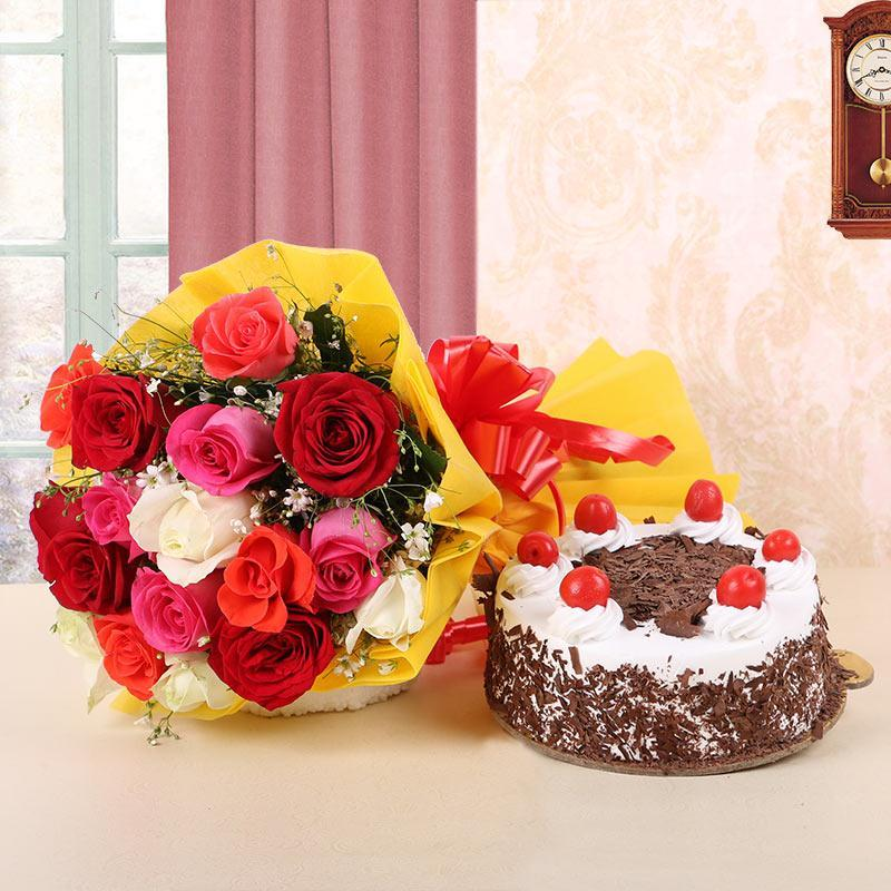 Blackforest n Roses - from Best Flower Delivery in India