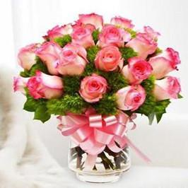 Light pink roses-pink rose bouquet - from Best Flower Delivery in India